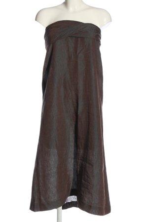 Beate Heymann Off the shoulder jurk bruin-turkoois kleurverloop elegant