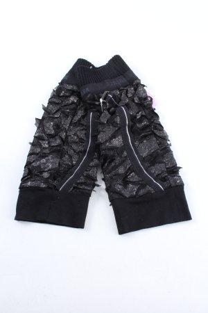 Beate Heymann Streetcouture Avond handschoenen zwart-zilver gedrukte letters