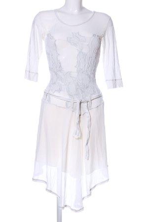 Beate Heymann Streetcouture Robe chiffon blanc motif de fleur