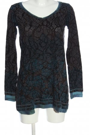 Beate Heymann Streetcouture Long Sleeve Blouse turquoise-light grey casual look