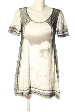Beate Heymann Streetcouture Lang shirt wit-lichtgrijs prints met een thema