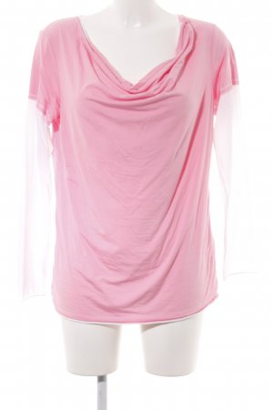 Beate Heymann Streetcouture Longsleeve pink-creme Casual-Look