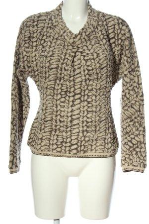 Beate Heymann Streetcouture Sweter z okrągłym dekoltem brązowy-kremowy