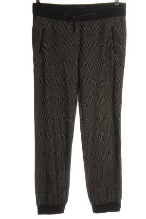 Beate Heymann Streetcouture Spodnie materiałowe czarny-w kolorze białej wełny