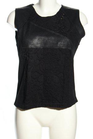Beate Heymann Streetcouture Tank Top black flower pattern casual look