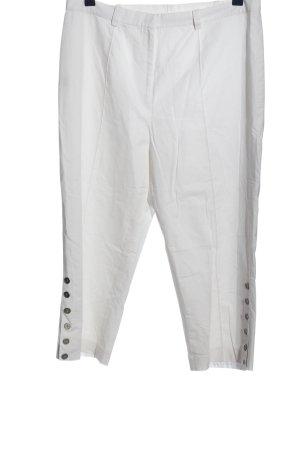 Beate Johnen Pantalon 3/4 blanc style décontracté