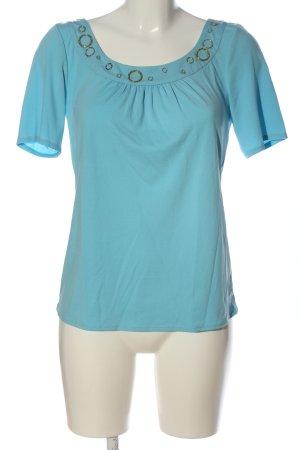 Beate Johnen T-shirts en mailles tricotées turquoise style décontracté