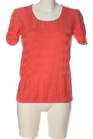 Beate Johnen T-shirts en mailles tricotées rouge style décontracté