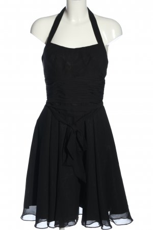 Beaumonde Vestido de cuello Halter negro elegante