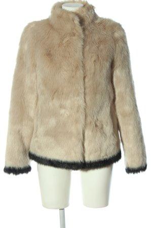 Beaumont Veste en fausse fourrure blanc cassé-noir style décontracté