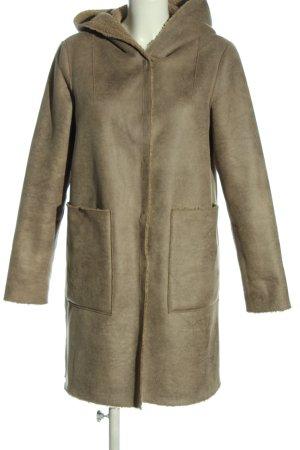 Beaumont Manteau en fausse fourrure brun style décontracté