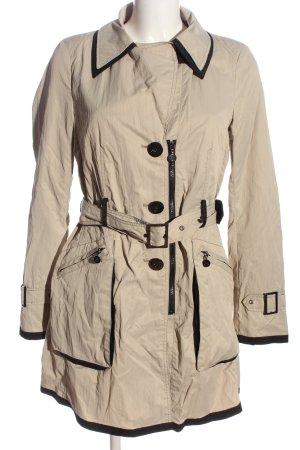 Beaumont Manteau mi-saison blanc cassé-noir style décontracté