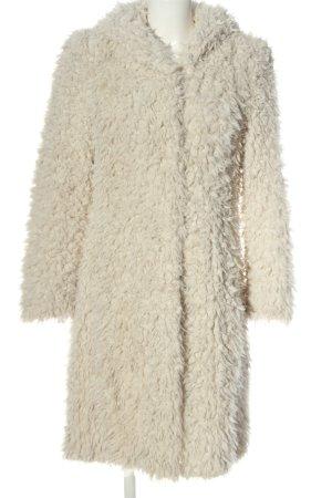 Beaumont Płaszcz zimowy kremowy W stylu casual