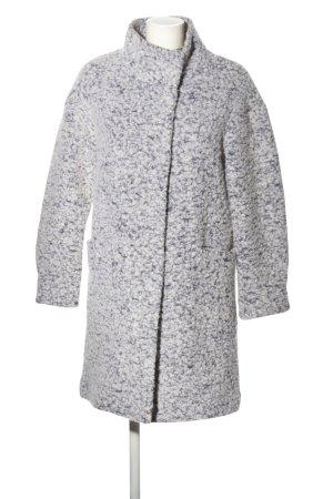Beaumont Manteau en laine gris clair-blanc style décontracté