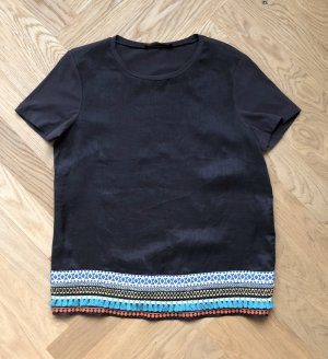 Beautiful Ethno Style Linen T-Shirt