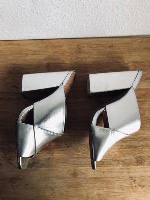 H&M Tacones altos gris claro Poliéster