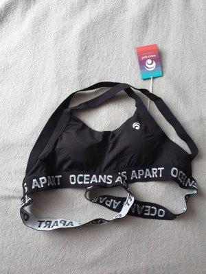 oceans apart Top deportivo sin mangas blanco-negro
