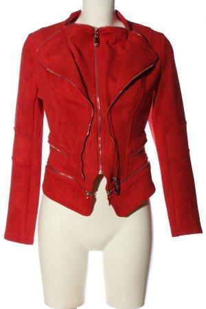 beauty fashion Krótka kurtka czerwony W stylu casual