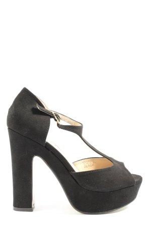 Beauty Girl's Platform High-Heeled Sandal black casual look