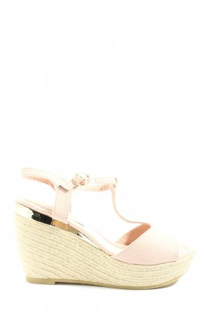 Beauty Girl's Wedge Sandals natural white-gold-colored casual look