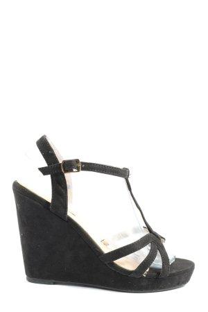 Beauty Girl's Wedge Sandals black casual look