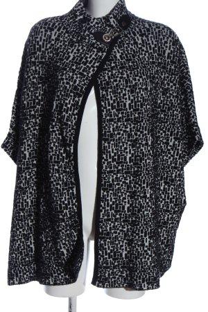 Beauty Women Cardigan nero-bianco stampa integrale stile casual