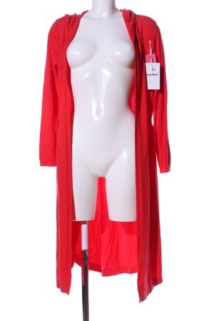 Beauty Women Kardigan czerwony W stylu casual
