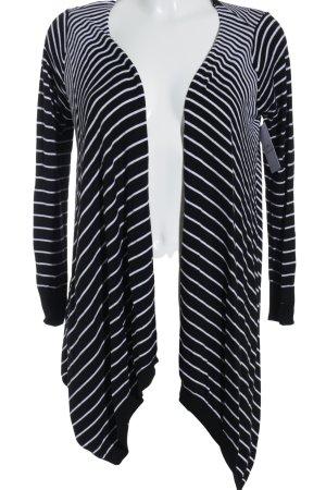 Beauty Women Cardigan schwarz-weiß Streifenmuster schlichter Stil