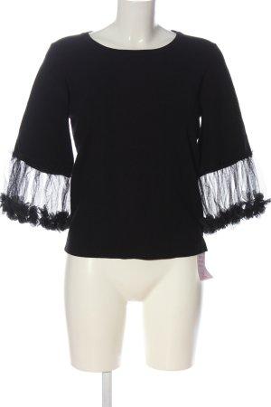 Beauty Women Fine Knit Jumper black elegant