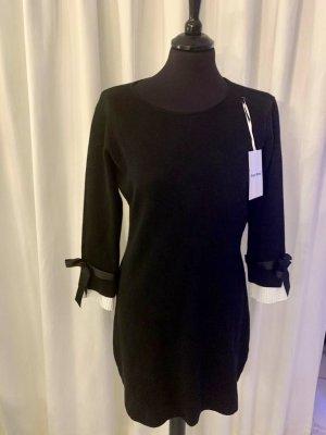 Beauty Women Kleid S/M neu mit Etikett schwarze mit Schleifendetails an den Ärmeln und weißen Details im Layerlook