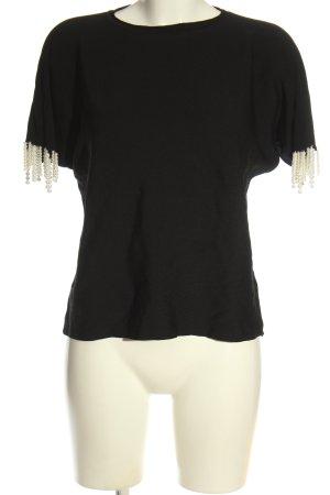 Beauty Women Blouse met korte mouwen zwart casual uitstraling