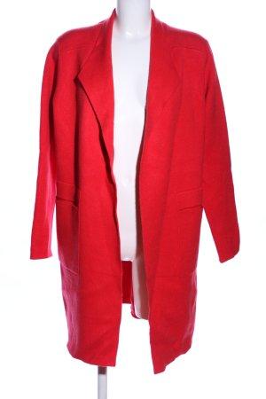 Beauty Women Długa kurtka czerwony W stylu biznesowym