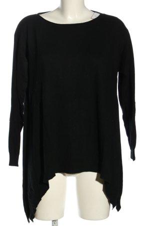 Beauty Women Maglione oversize nero stile casual