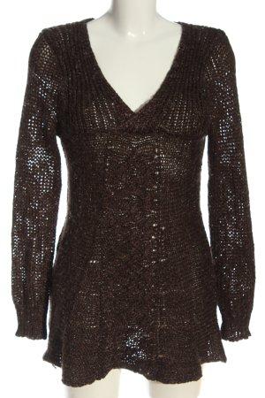 Beauty Women Sweaterjurk bruin Webpatroon casual uitstraling