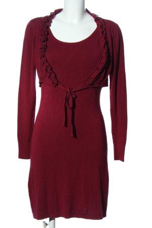 Beauty Women Swetrowa sukienka czerwony W stylu casual