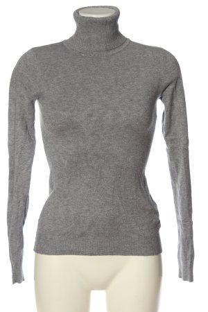 Beauty Women Turtleneck Sweater light grey flecked casual look