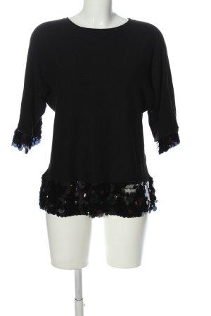 Beauty Women Kraagloze sweater zwart casual uitstraling