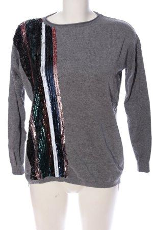Beauty Women Sweter z okrągłym dekoltem Melanżowy W stylu casual