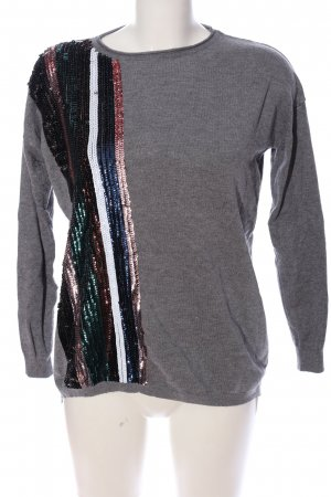 Beauty Women Kraagloze sweater gestippeld casual uitstraling