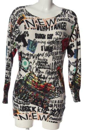 Beauty Women Crewneck Sweater allover print casual look