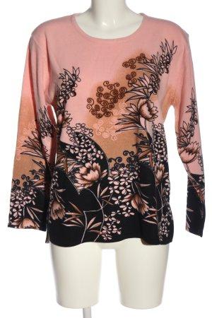 Beauty Women Sweter z okrągłym dekoltem Abstrakcyjny wzór W stylu casual