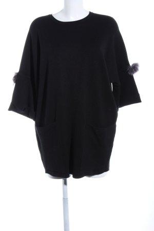 Beauty Women Vestido estilo camisa negro elegante