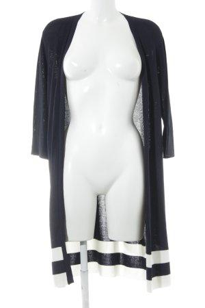 Beauty Women Strick Cardigan dunkelblau-weiß Streifenmuster Casual-Look