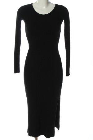 Beauty Women Knitted Dress black casual look