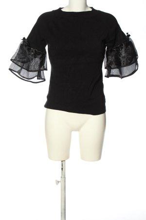 Beauty Women Gebreid shirt zwart-wit casual uitstraling