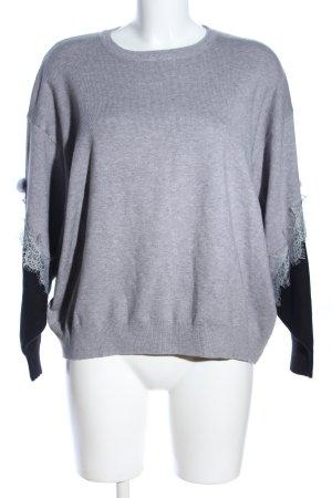 Beauty Women Sweatshirt hellgrau-schwarz meliert Business-Look