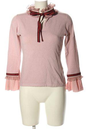 Beauty Women Sweter z dekoltem w kształcie litery V różowy W stylu casual