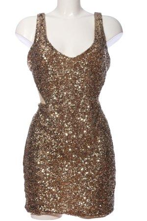 bebe Abendkleid bronzefarben extravaganter Stil