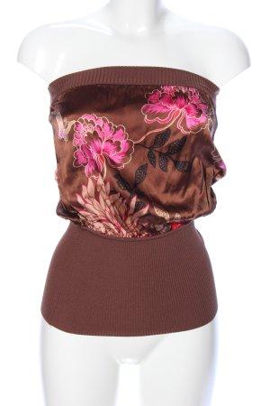 bebe Bandeautop bronzefarben-pink Blumenmuster Elegant