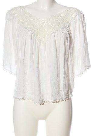bebe Carmen blouse wit casual uitstraling